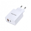 Awei C-980 - 18W Type-C og USB-A Adapter