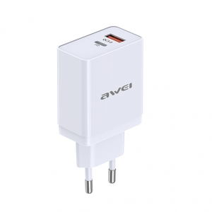 Awei C-980 - 18W PD og QC Adapter