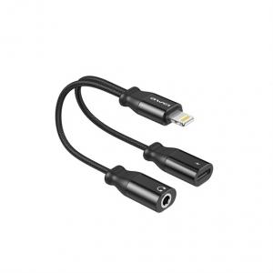 Awei CL-72 - Lightning adapter til dual output 3.5mm Jack-Lightning