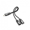 Awei CL-72 - Lightning adapter til dual output 3.5mm Jack-Lightning