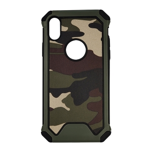 iPhone X & XS - Cover militær grøn ultra beskyttelse