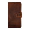 iPhone 12&12 pro 2i1 læder etui brun