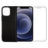 iPhone 12 pro sort cover og beskyttelsesglas