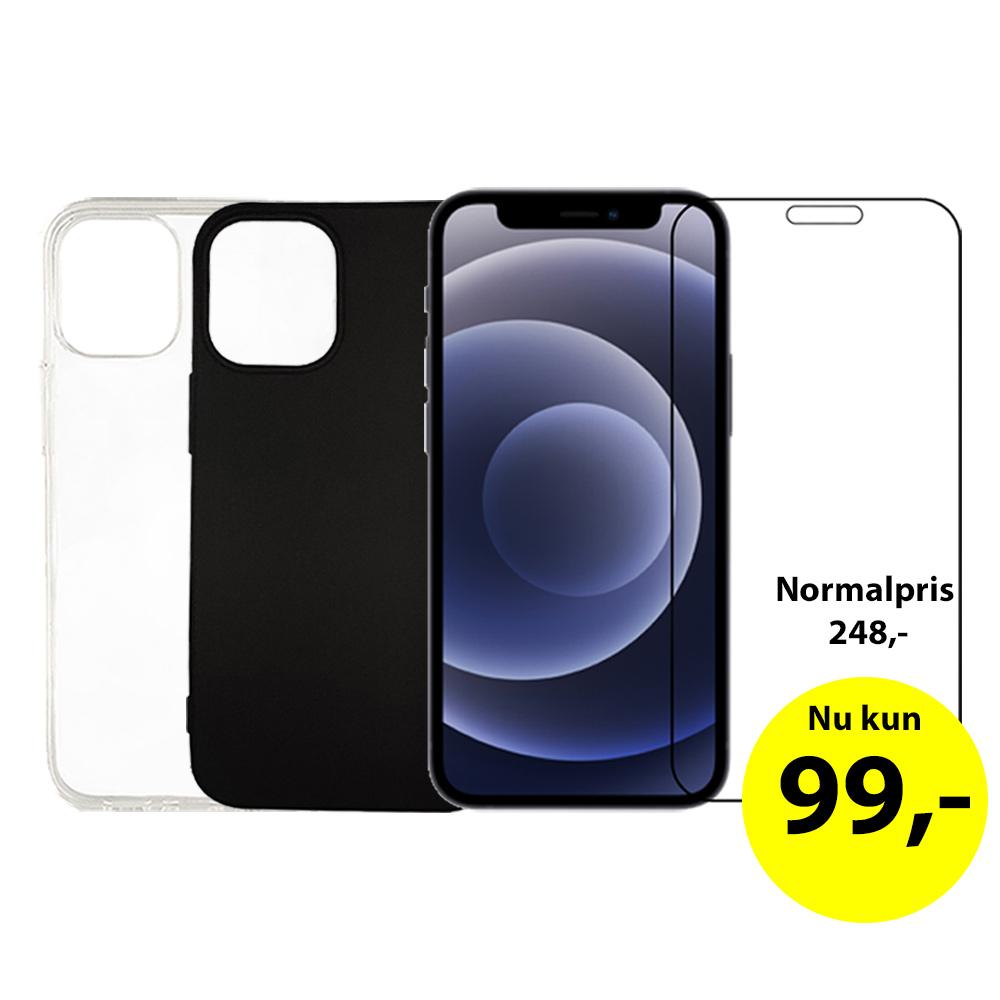iPhone 2i1 cover og beskyttelsesglas tilbud